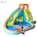 Inflatable Water Slide with Pool and Cannon (China)