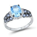 Blue Topaz Diamond Ring (Hong Kong)
