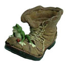 Polyresin Frog Boot Planter (Hong Kong)