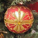 Decorated Glass Ball Ornament (Hong Kong)