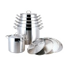 Straight-shape Stainless Steel Cookware Set (China)