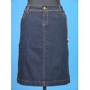 Imitation Leather Décor Denim Skirt (Hong Kong)