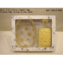 Soap and Inclusion Holder Gift Set - Lotus Scented (Hong Kong)