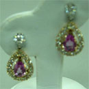 Fine Jewellery - earrings with gemstone  (Hong Kong)