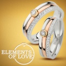 Elements of Love (18K White, Yellow and Rose Gold Diamond Ring) (Hong Kong)